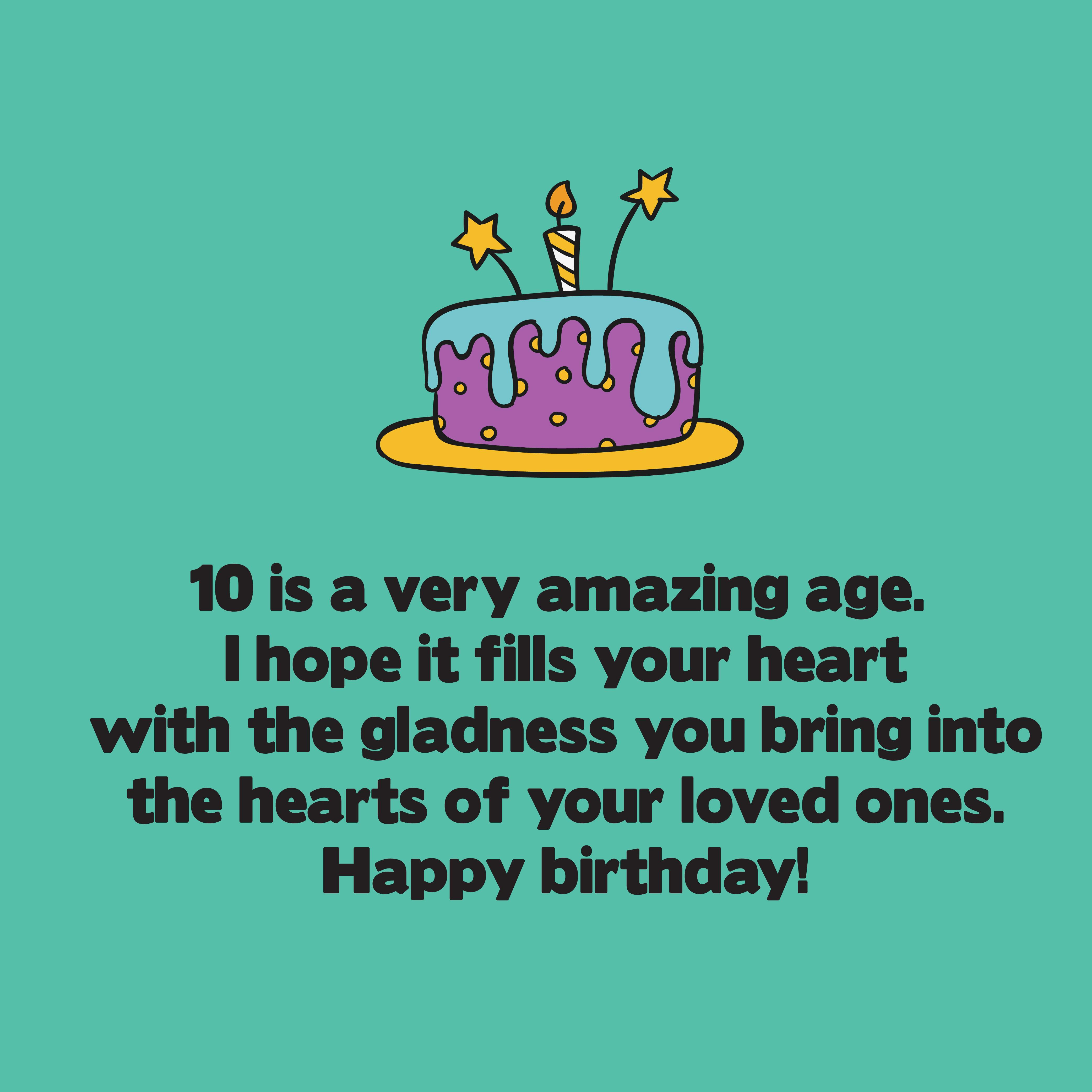 Cute Birthday Messages For 10 Years Old Top Happy Birthday Wishes