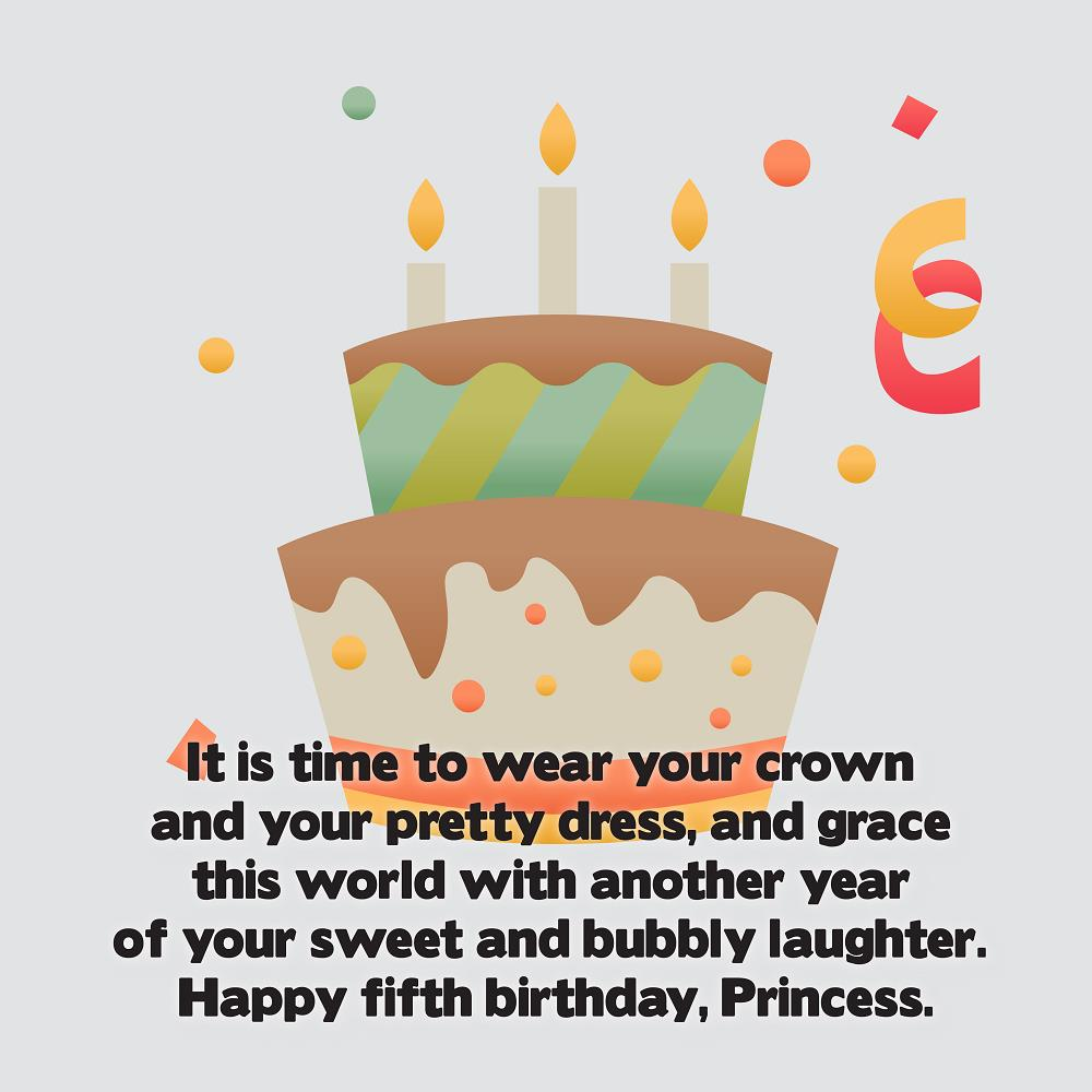 Amazing Happy 5th Birthday Wishes With Pictures