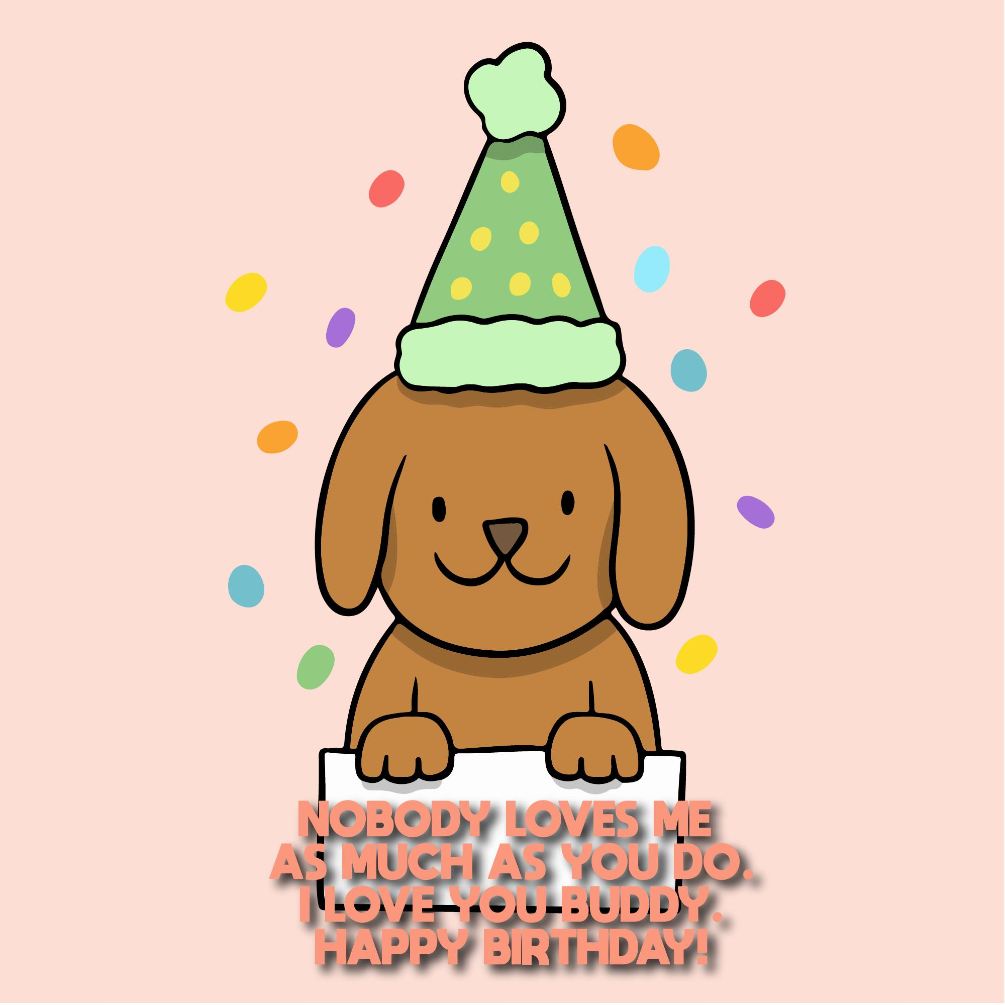Cute Birthday Wishes For Dogs With Pictures