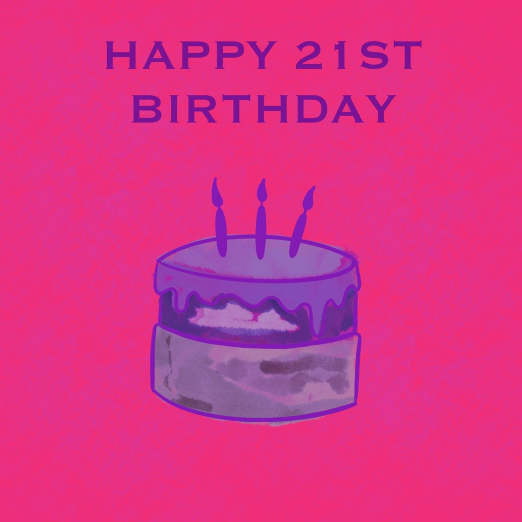 21st-birthday-quotes-wishes-cake